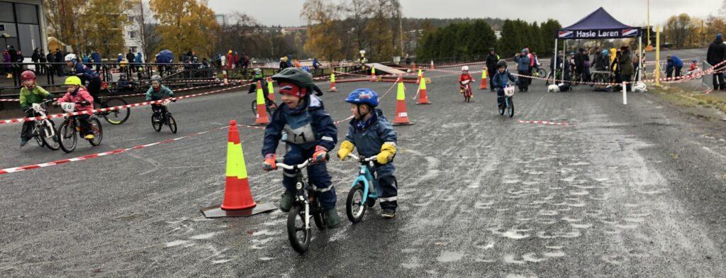 Kidskross er populært på Bjerkebanen (foto: Rune Sjøhelle